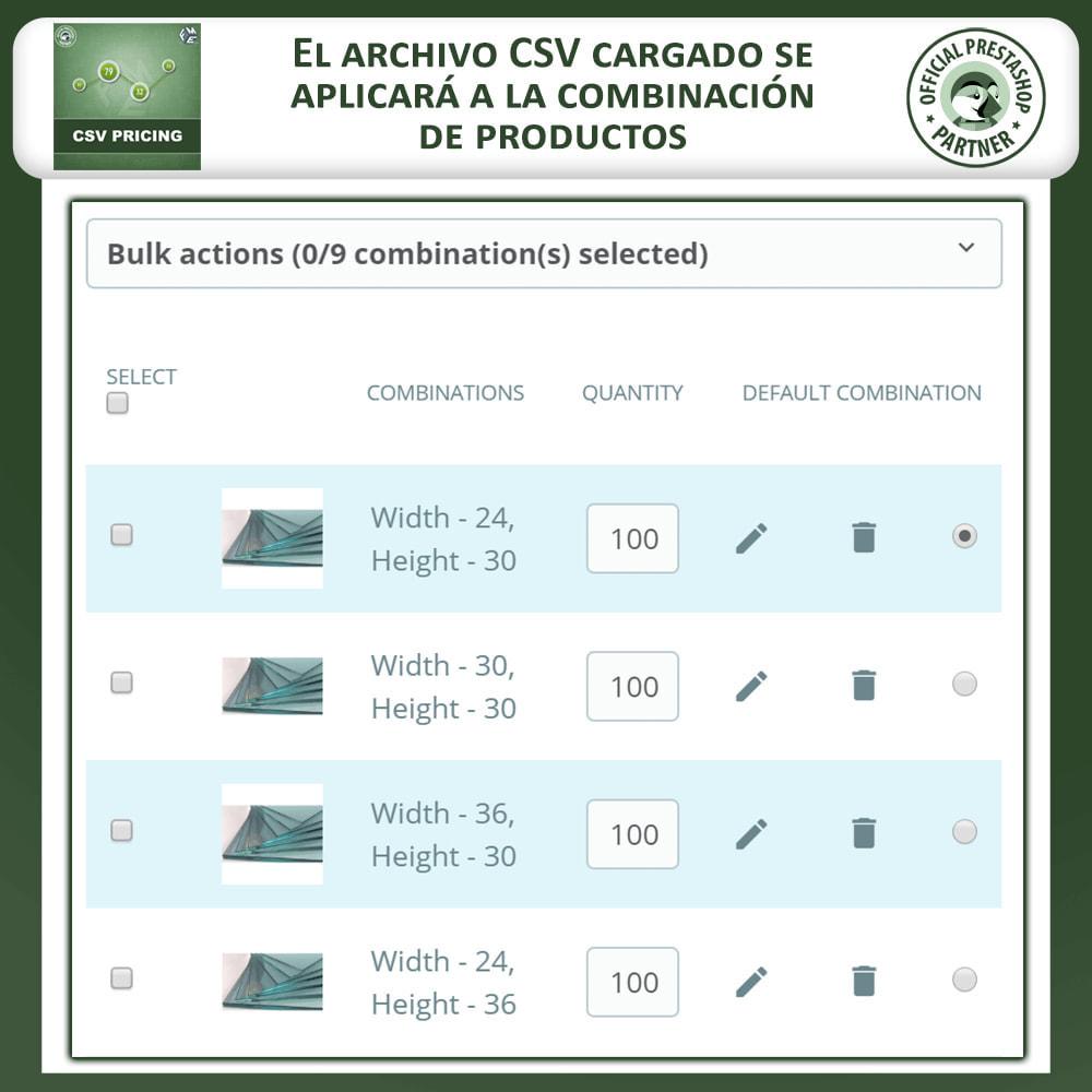 module - Tallas y Dimensiones - Precio CSV - Precio con base en el largo y ancho (área) - 5