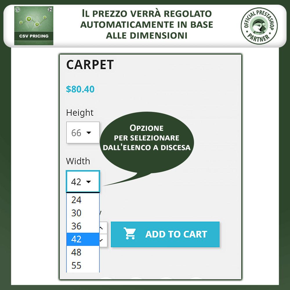 module - Grandezze & Unità di misura - CSV Pricing – Prezzi basati sull'Area - 2