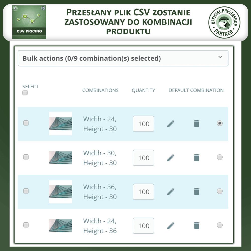 module - Rozmiary i jednostki - CSV Pricing - 5