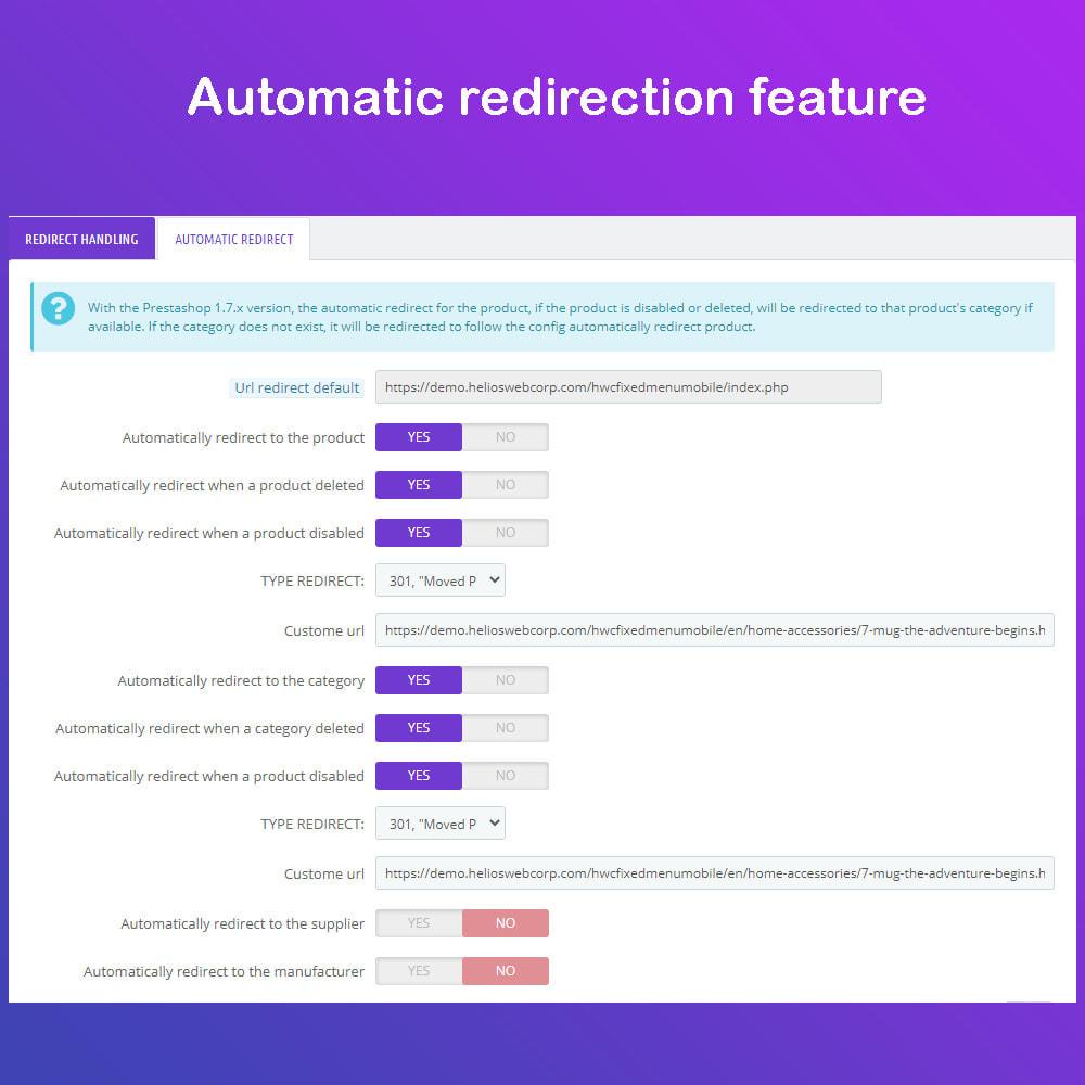module - URL y Redirecciones - Super Redirections - 301,302 And 404 Urls - SEO - 2
