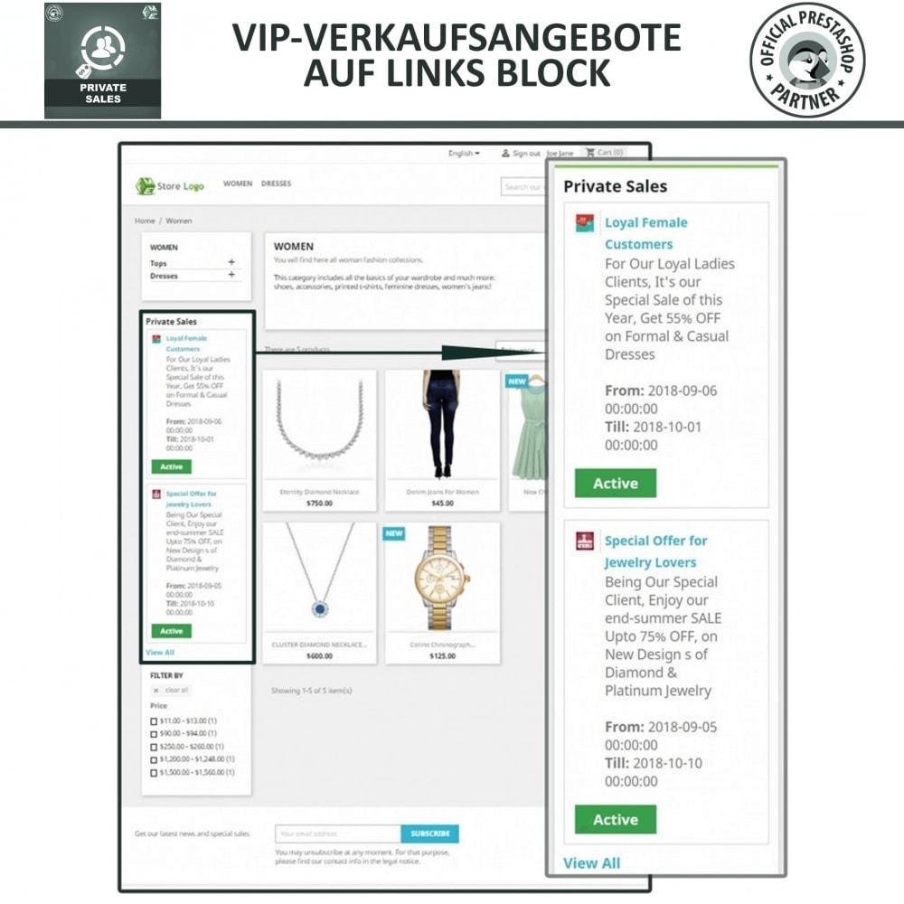 module - Flash & Private Sales - Private Verkauf für VIP-Kundengruppen - 2