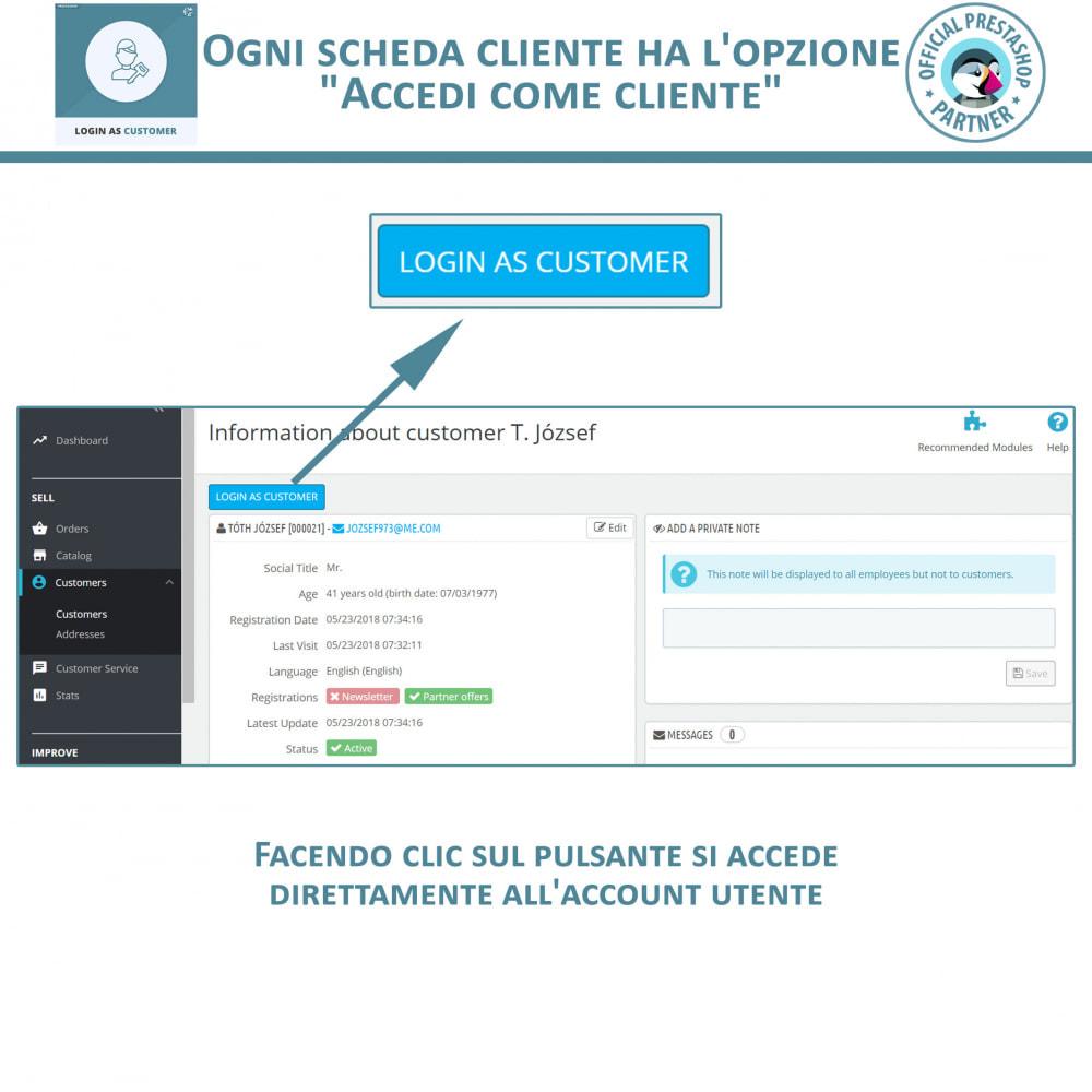 module - Servizio post-vendita - Accedi come cliente - 2