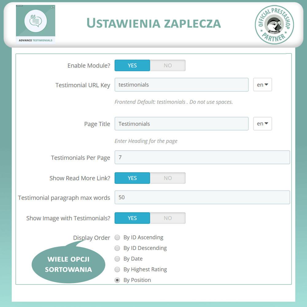 module - Opinie klientów - Zaawansowane referencje-recenzje klientów ze zdjęciami - 14