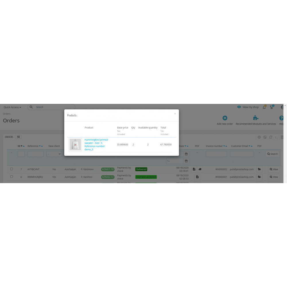 module - Order Management - Search by Invoice Number & Check Order Details Module - 5