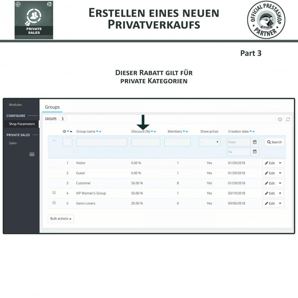 module - Flash & Private Sales - Private Verkauf für VIP-Kundengruppen - 8