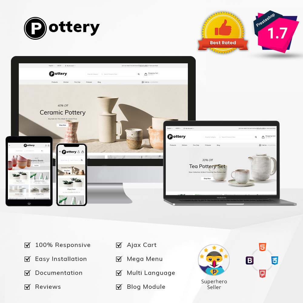 theme - Art & Culture - Pottery Store - 2