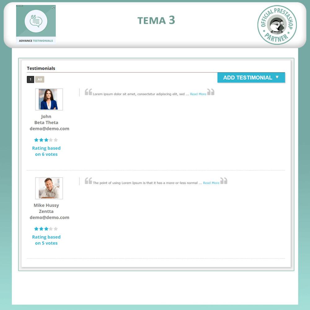 module - Отзывы клиентов - Продвинутый Отзывы - Отзывы клиентов с изображениями - 4