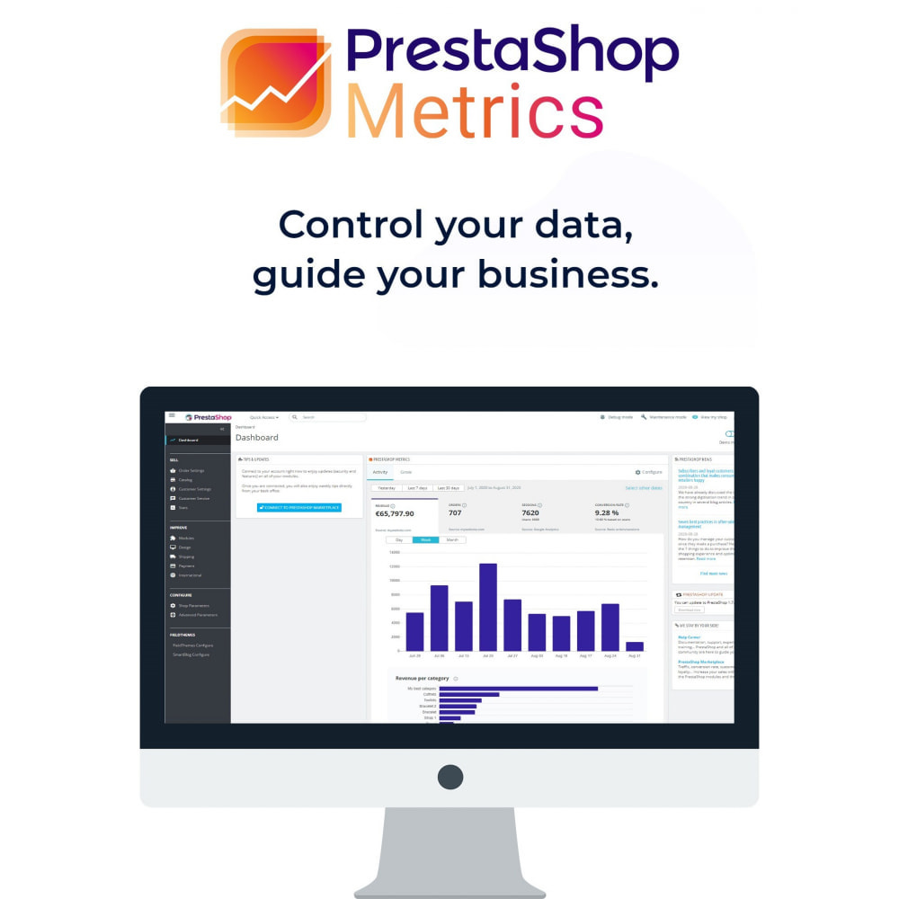 module - Analysen & Statistiken - PrestaShop Metrics - 1