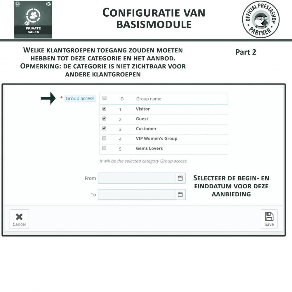 module - Uitverkoop & Besloten verkoop - Privé Verkopen voor VIP Klanten Groepen - 7