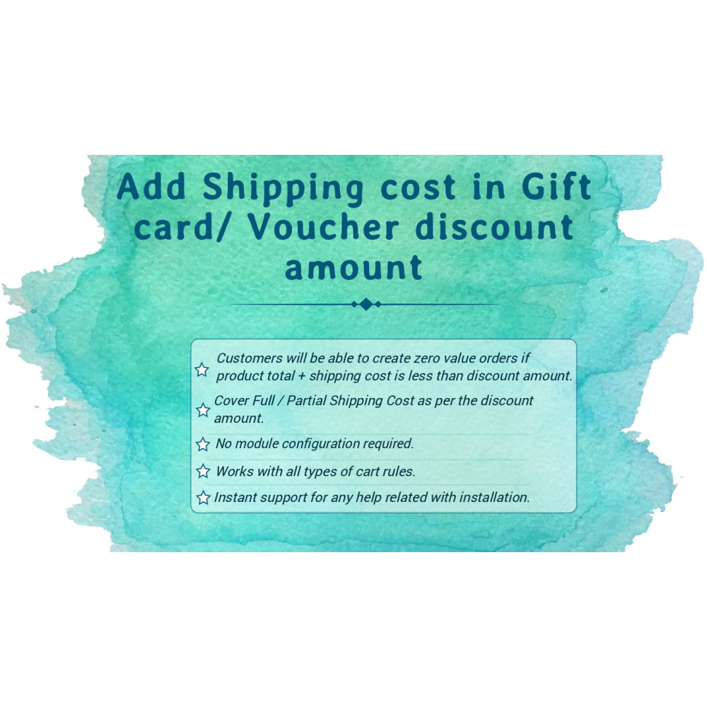 module - Liste de souhaits & Carte cadeau - Add Shipping cost in Gift Card/ Voucher Discount amount - 1