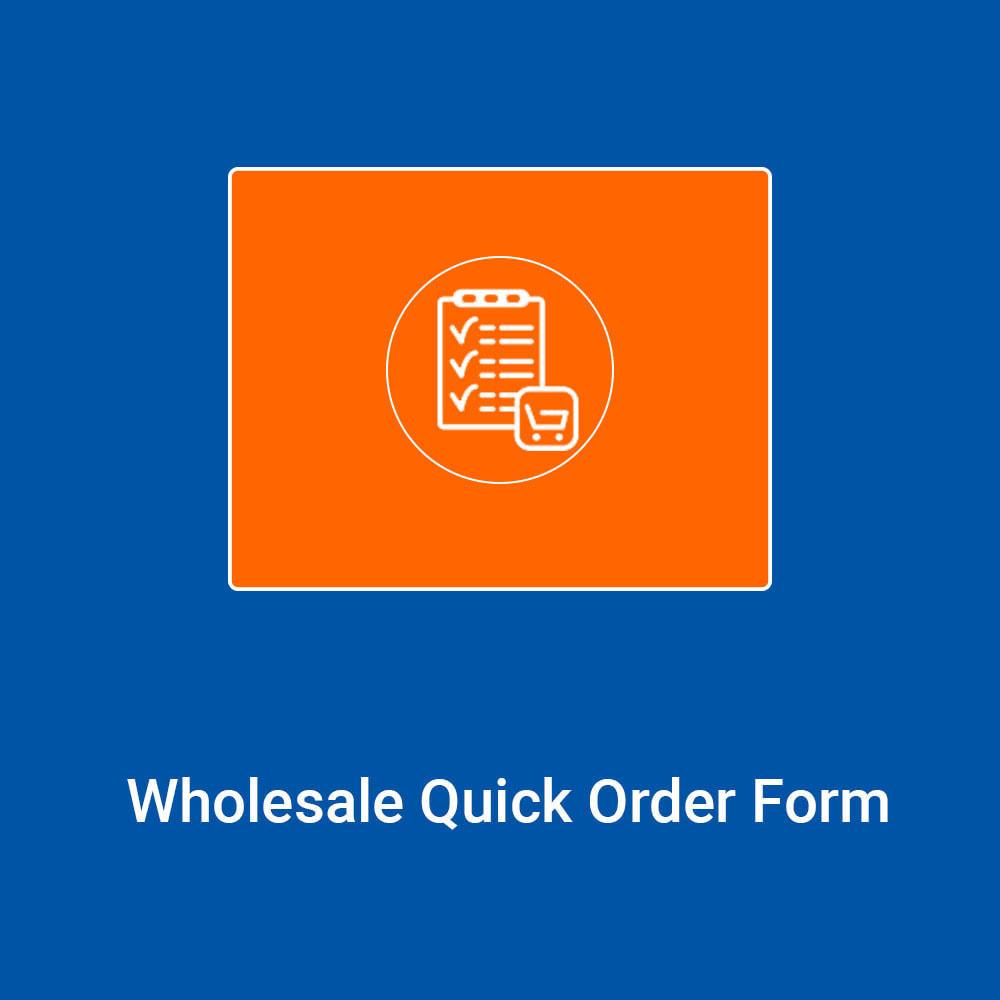 module - Registration & Ordering Process - B2B Wholesale Quick Order Form - 1