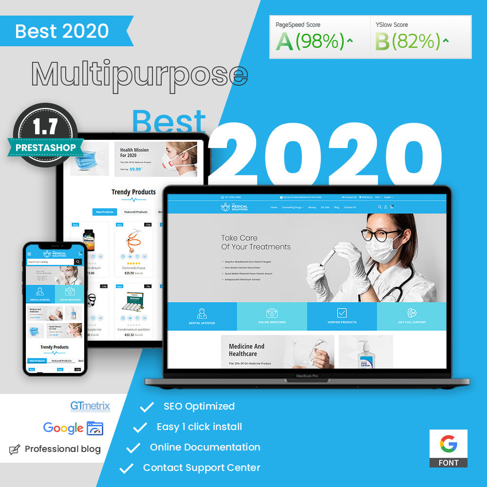 theme - Zdrowie & Uroda - Medical Solutions - Medical and Medicine Store Template - 2