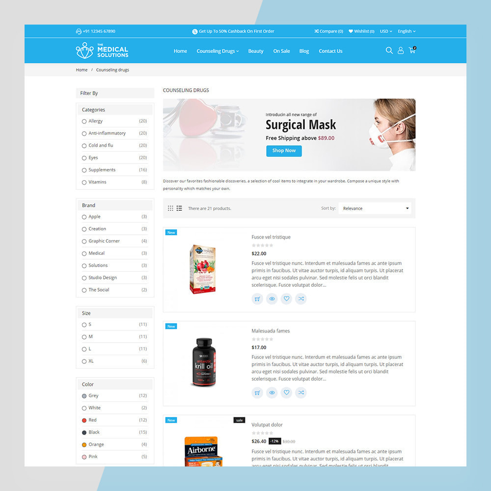 theme - Zdrowie & Uroda - Medical Solutions - Medical and Medicine Store Template - 10