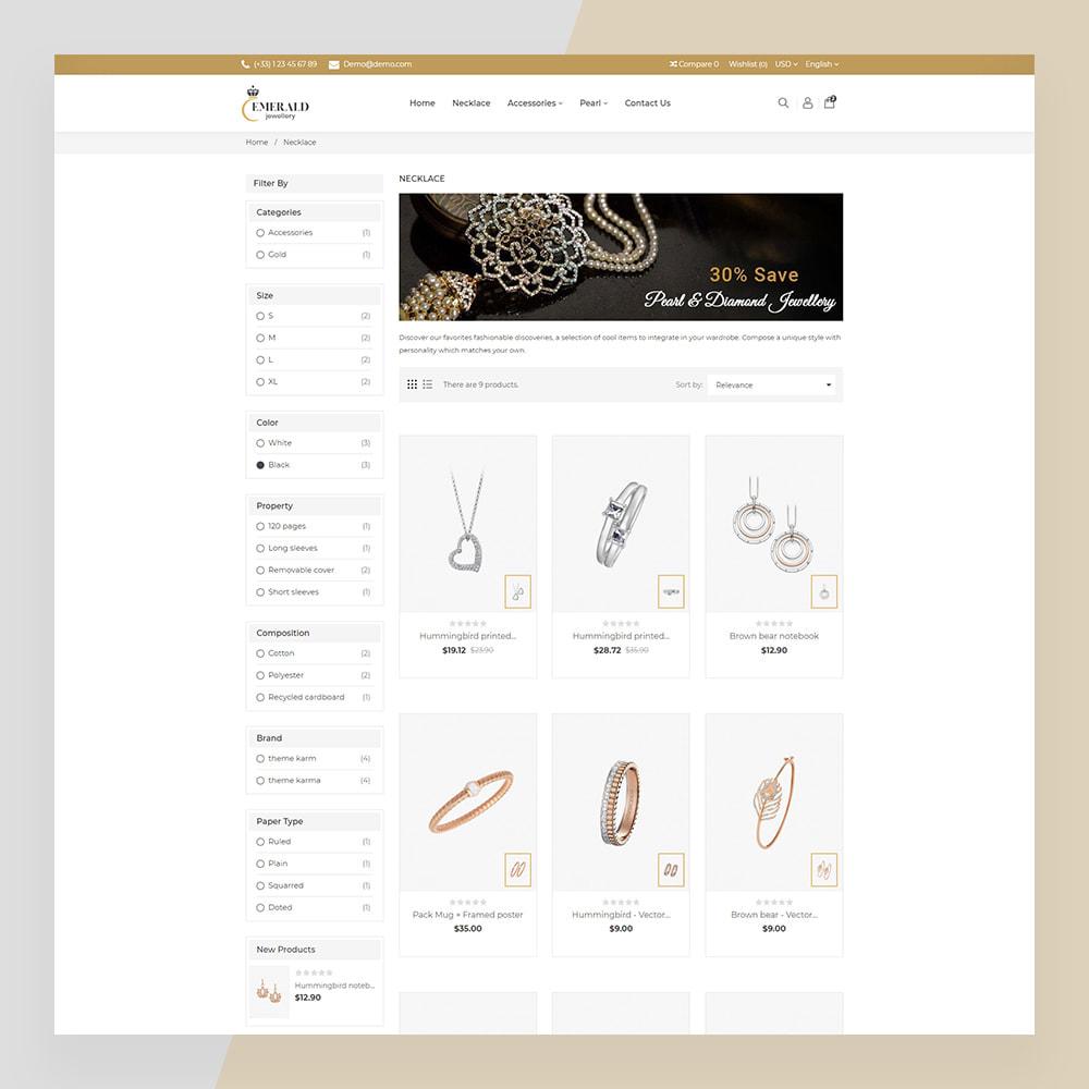 theme - Bellezza & Gioielli - Emerald Jewelry - Jewellery & Accessories Template - 17