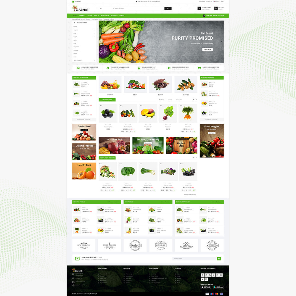 theme - Здоровье и красота - Indian Organic – Organic Super Store - 2