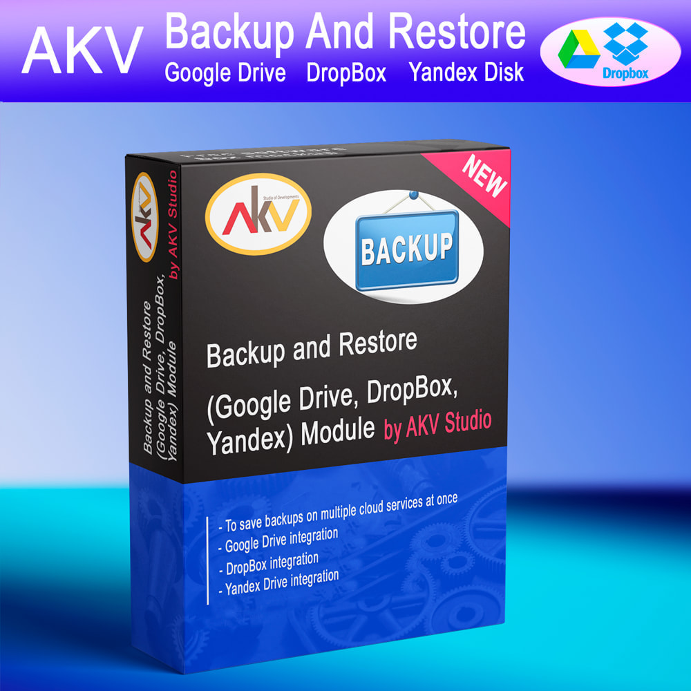 module - Data migration & Backup - AKV Backup and Restore (Google Drive, DropBox, Yandex) - 1