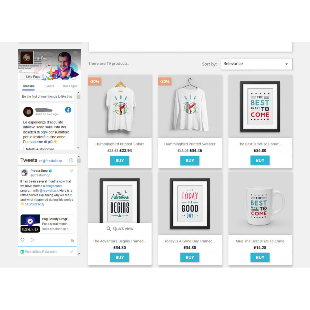 module - Widgets para redes sociales - Social Wall Feeds | Posts & Tweets - 1