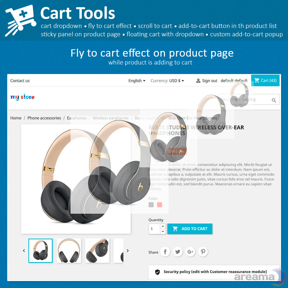 module - Pop-up - Cart Tools - cart dropdown, fly to cart, cart popup... - 2