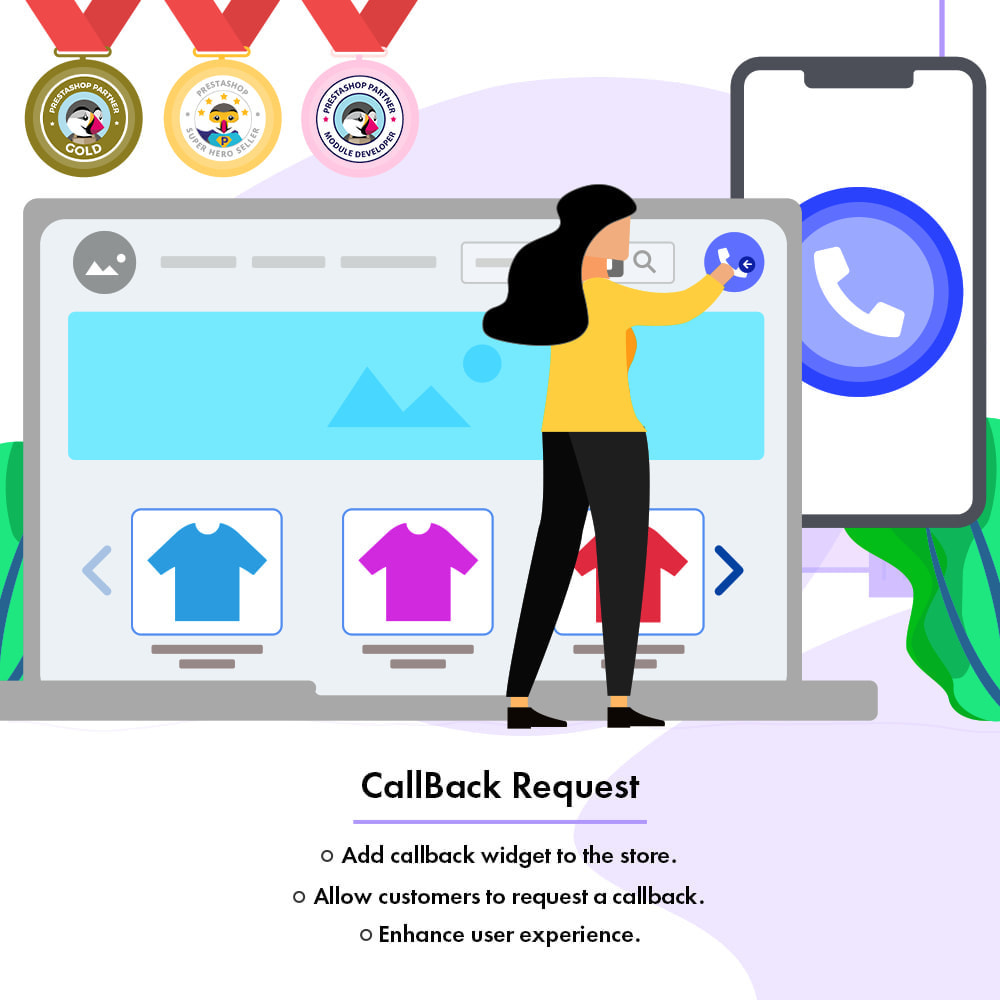 module - Support & Online Chat - CallBack Request | Add Request CallBack Form To Store - 1