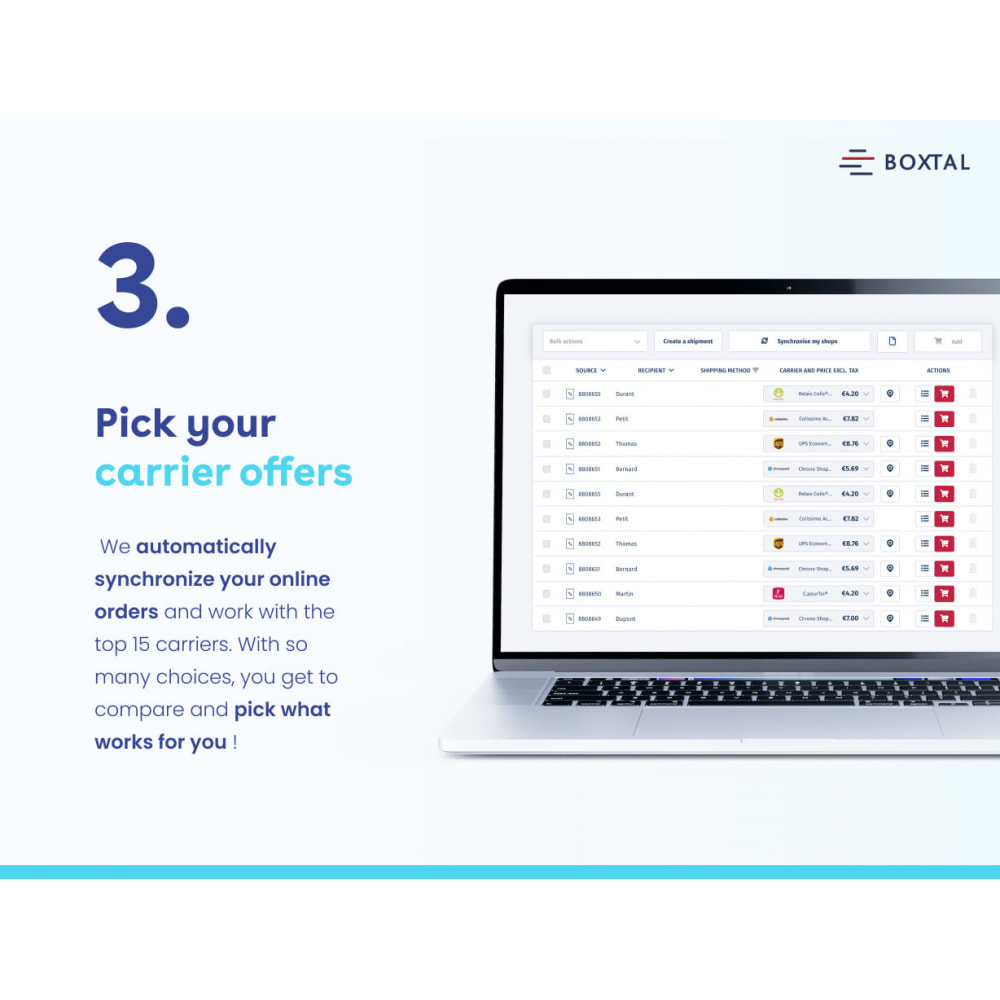 module - Shipping Carriers - Boxtal Connect - 1st shipping solution in Europe - 3