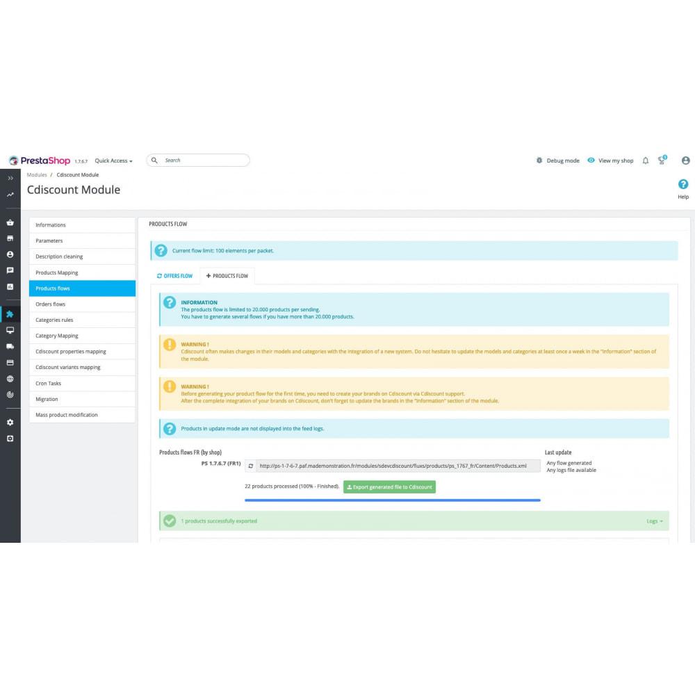 module - Торговая площадка - Cdiscount - Synchronization to the marketplace - 10