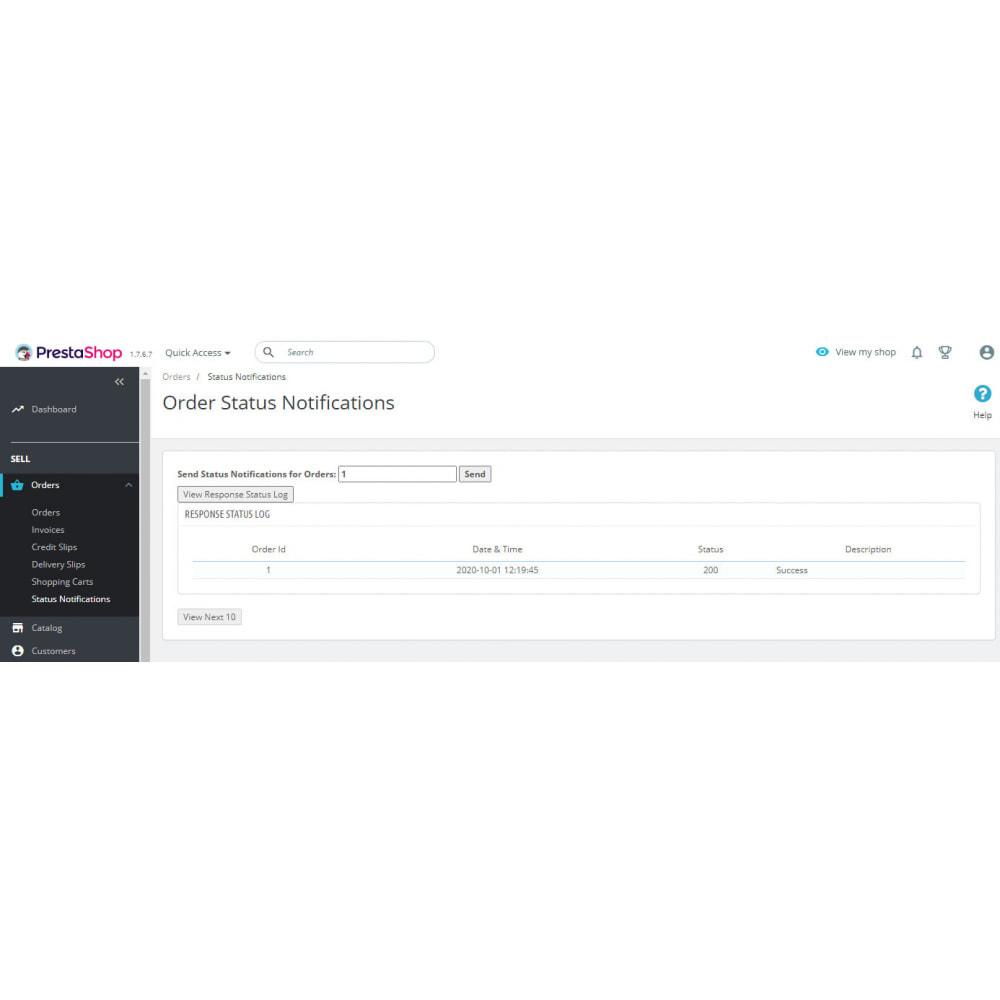 module - Integración con CRM, ERP... - Order Status WebHook API - 3