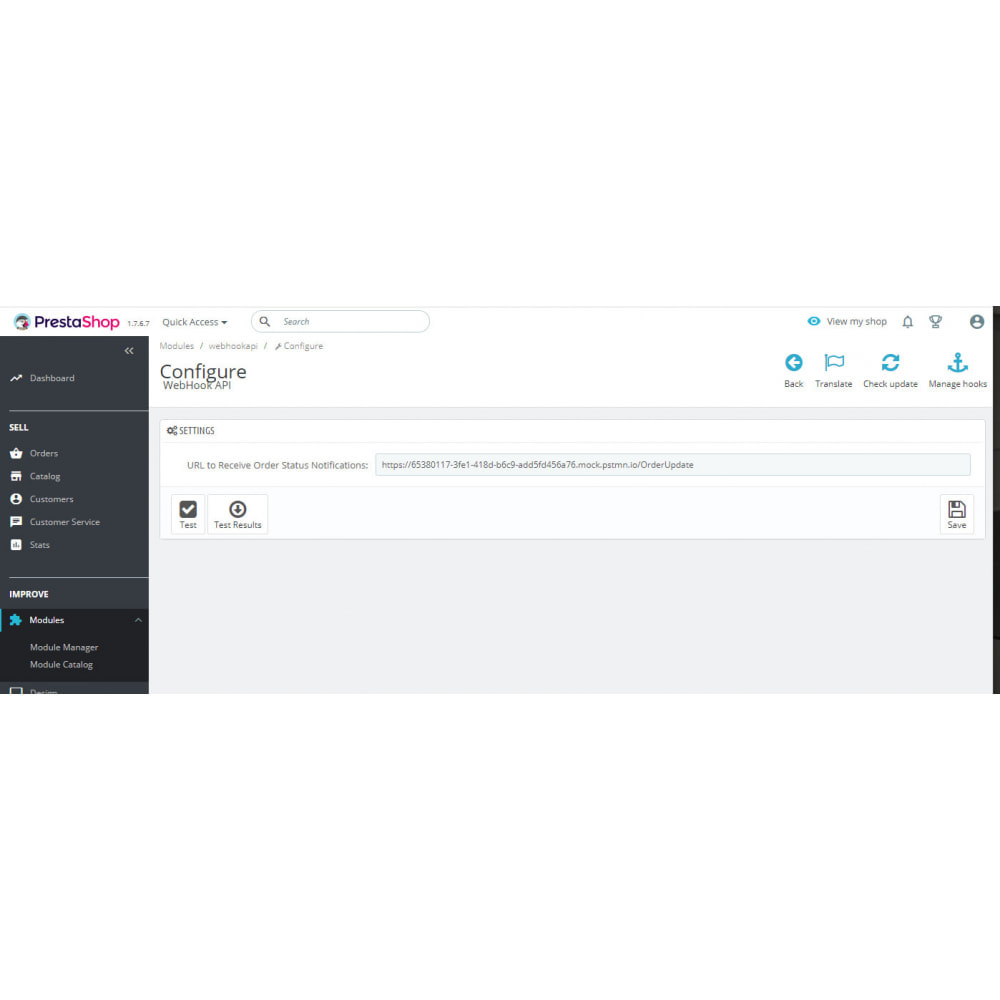 module - Integración con CRM, ERP... - Order Status WebHook API - 8