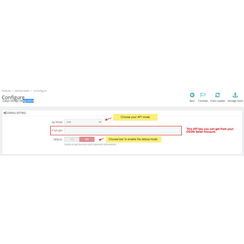 module - Datenabbindungen zu Drittsystemen (CRM, ERP, ...) - CDON Marketplace Integration - 2