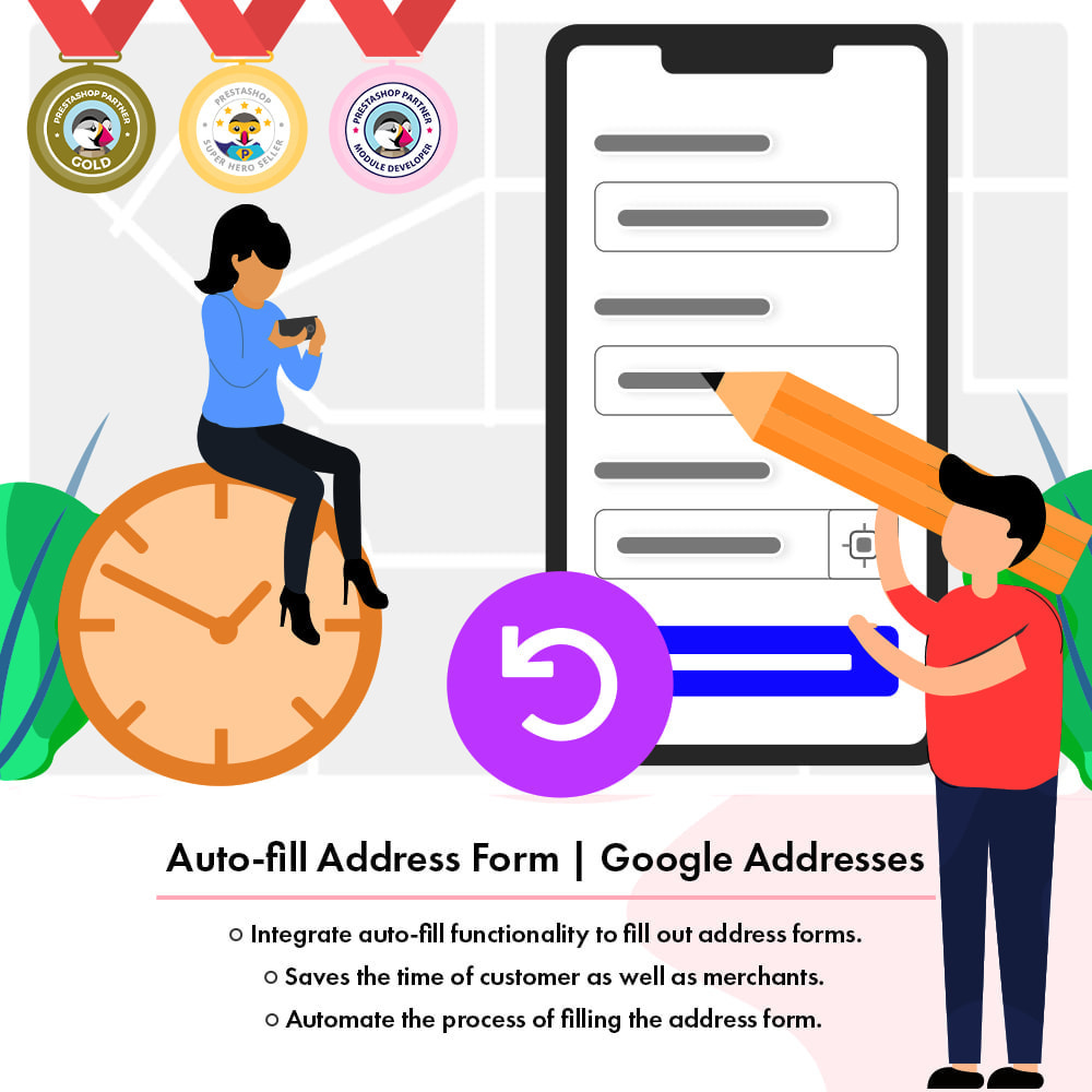module - International & Localization - Auto-fill Address Form | Google Addresses - 1