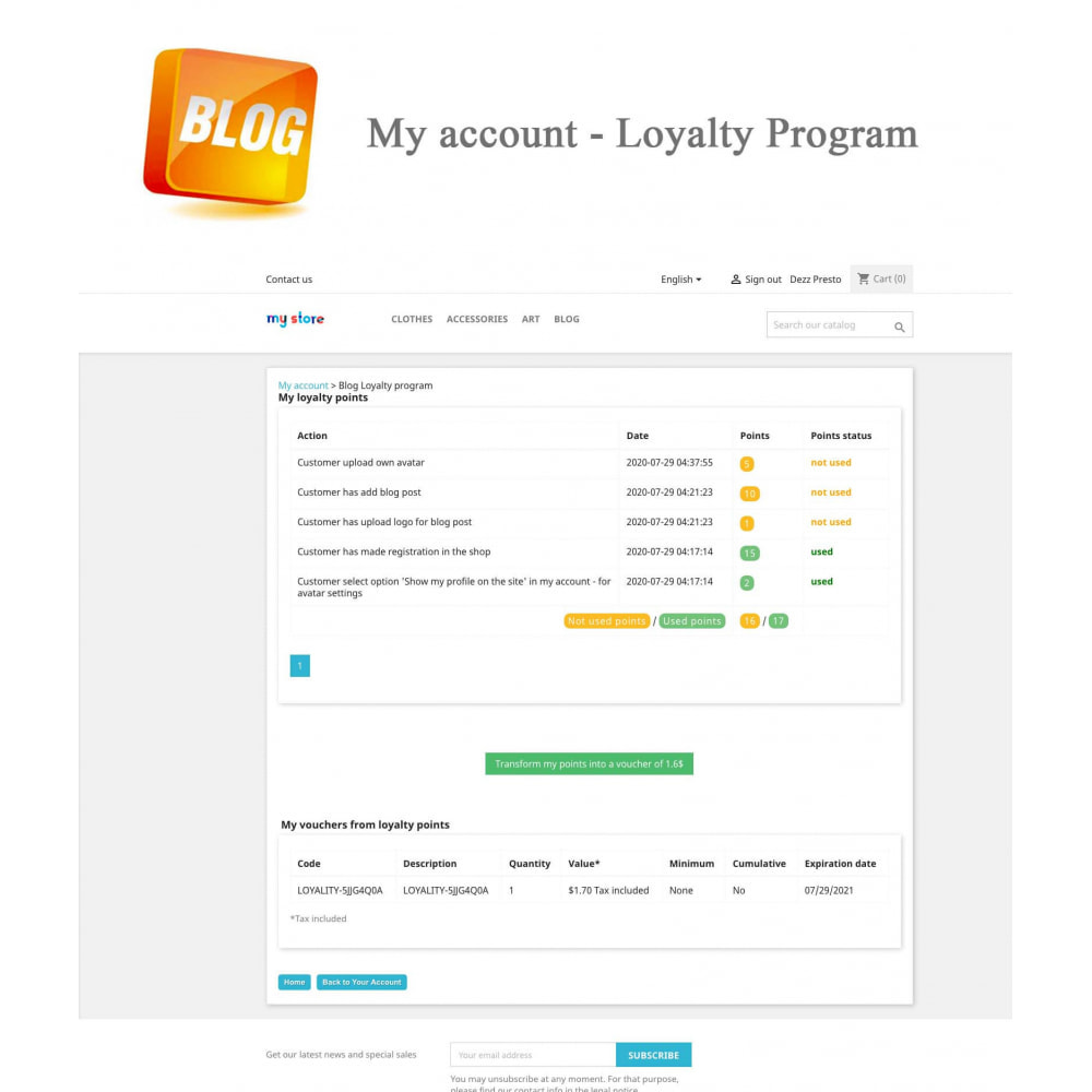 module - Blog, Forum & Aktualności - Blog PRO + Loyalty Program - 15