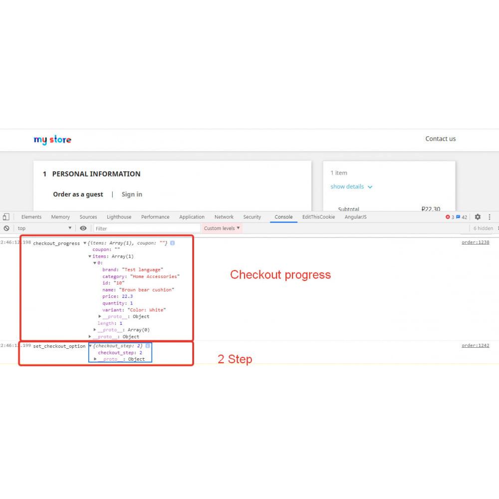 module - Analyses & Statistiques - Integration-Google Universal Analytics (13 events) - 5