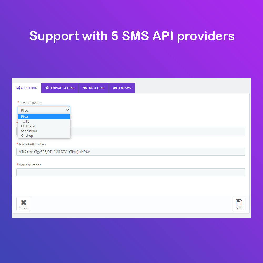 module - Nieuwsbrief & SMS - SMS Service PRO - Login/Reset Password - Order via SMS - 5