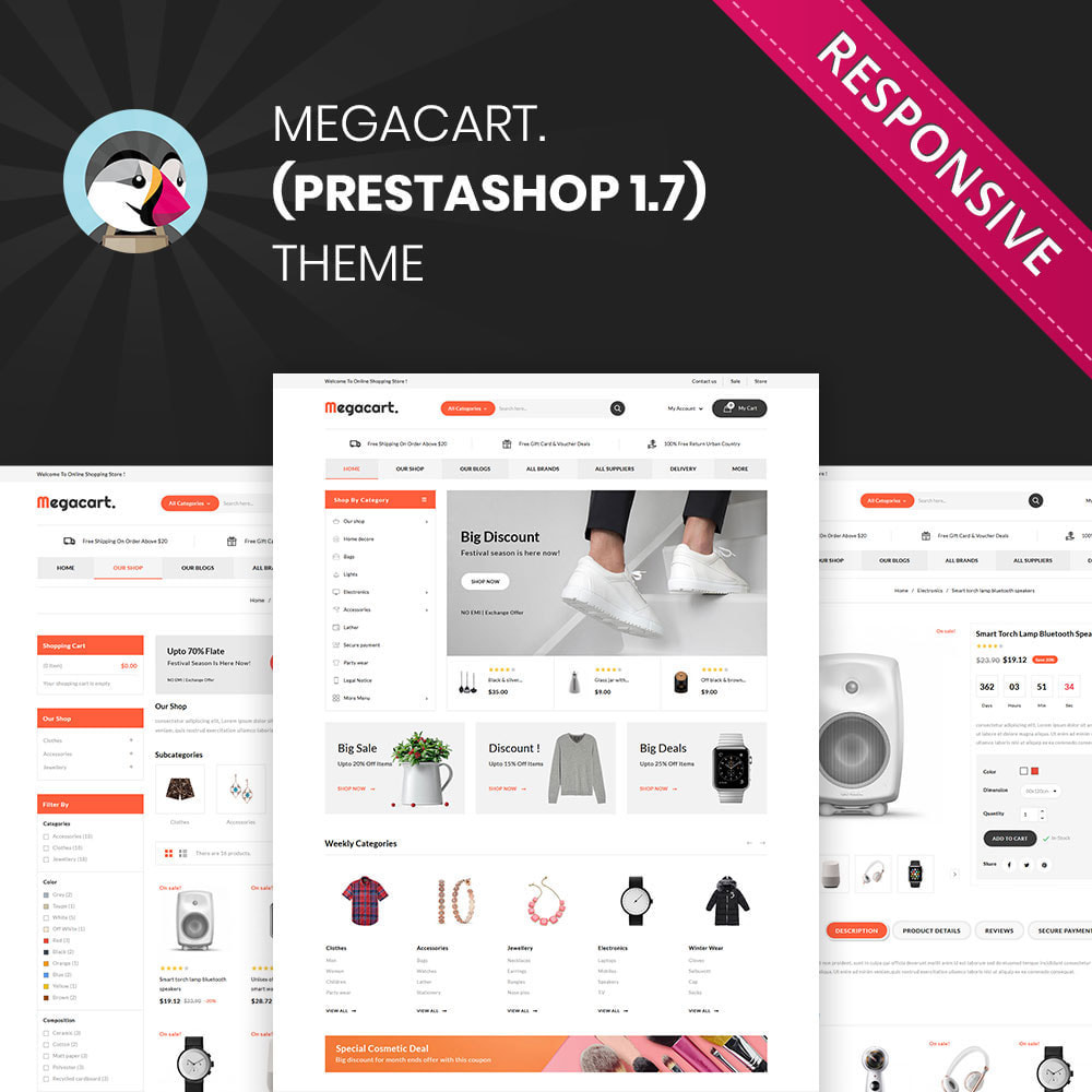 theme - Fashion & Shoes - Megacart - The Mega Store - 1