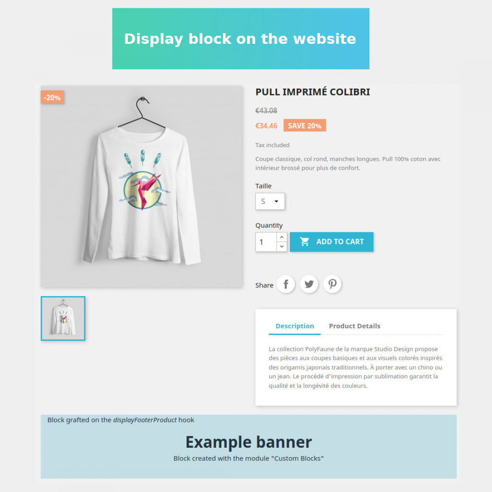module - Blocks, Reiter & Banner - Custom HTML blocks - 5