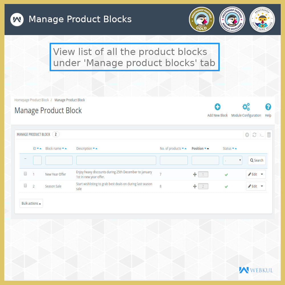 module - Blocos, Guias & Banners - Custom and Category Product Blocks - 10