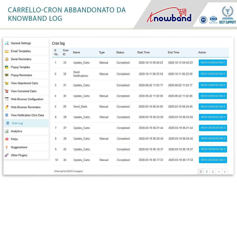 module - Remarketing & Carrelli abbandonati - Knowband-Reminder Periodici Carrello Abbandonato - 20