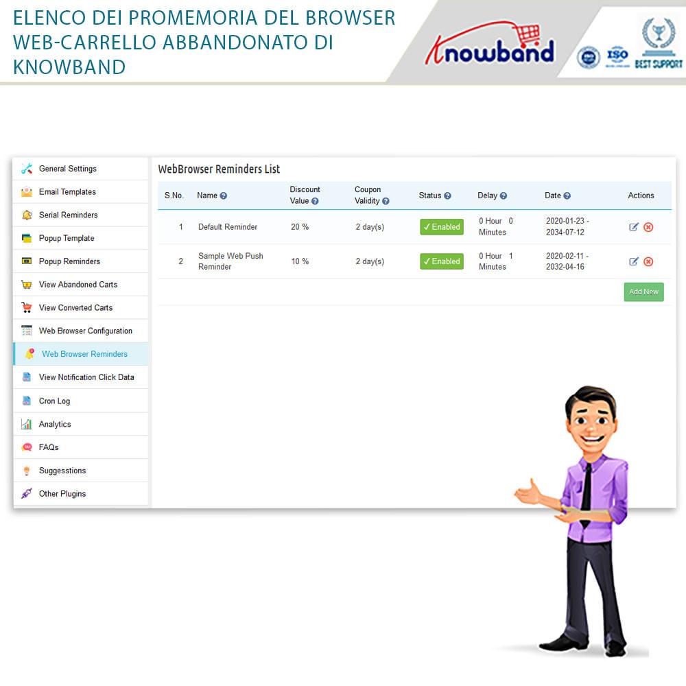 module - Remarketing & Carrelli abbandonati - Knowband-Reminder Periodici Carrello Abbandonato - 28
