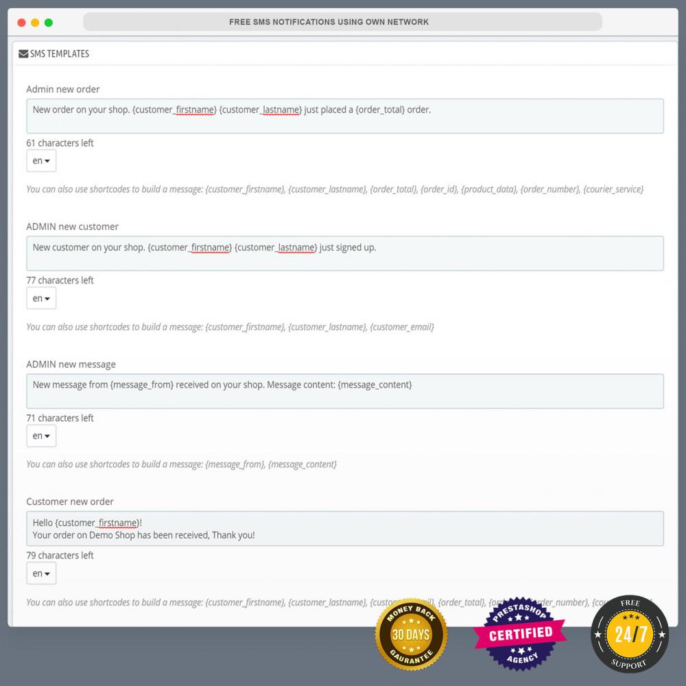 module - Newsletter & SMS - Kostenlose SMS-Benachrichtigungen mit eigenem Netzwerk - 16