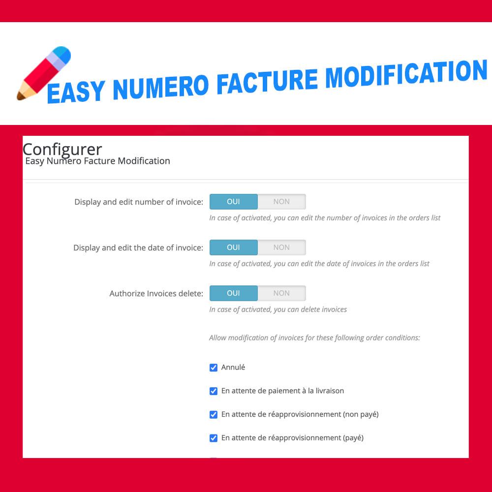 module - Оплата счетом-фактурой - Edit Delete and create invoice number - 4