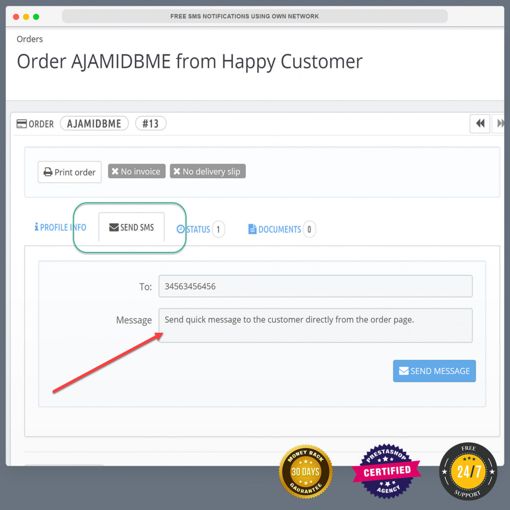 module - Newsletter & SMS - Notifiche SMS gratuite tramite la propria rete - 19