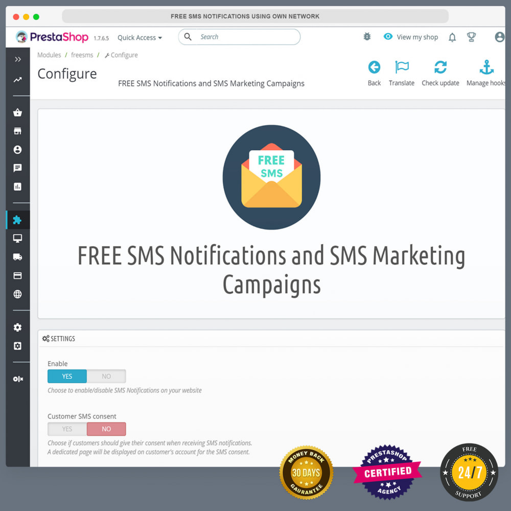module - Newsletter & SMS - Free SMS Notifications using own mobile and SIM card - 4
