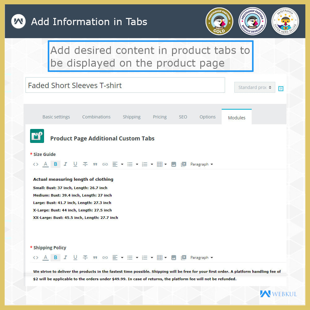 module - Additional Information & Product Tab - Product Page Additional Custom Tabs - 6