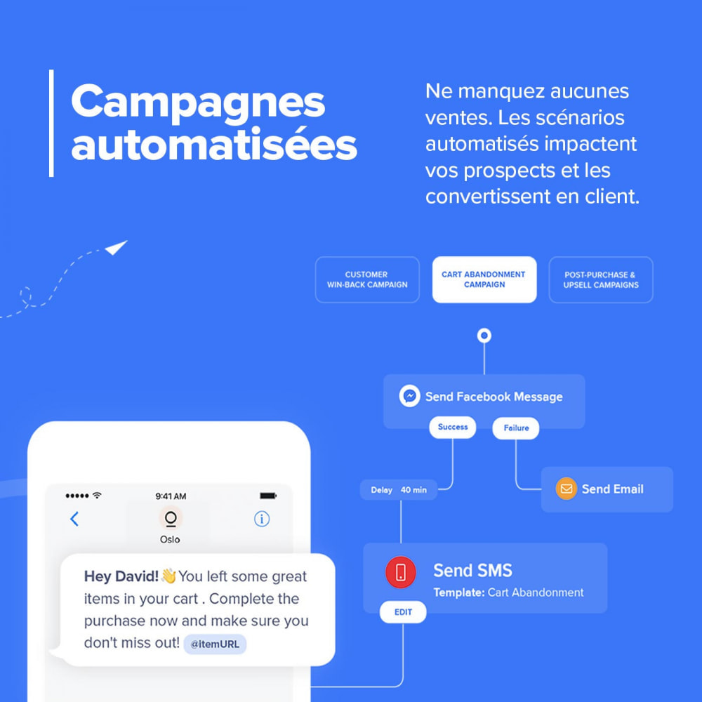 module - Remarketing & Paniers Abandonnés - Module Carts Guru - Marketing automation multicanal - 3