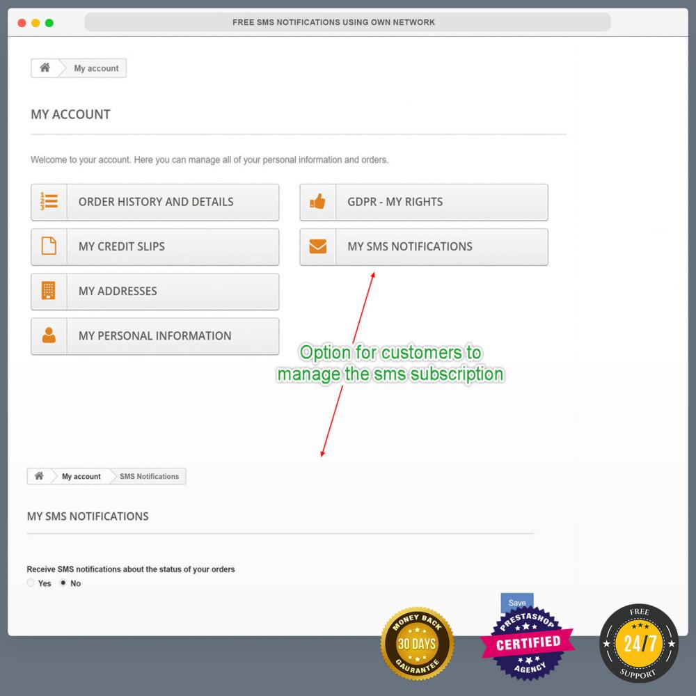 module - Newsletter y SMS - Notificaciones de SMS gratuitas usando una red propia - 15