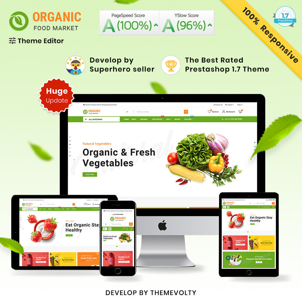 theme - Lebensmittel & Restaurants - Organic Mega–Food and Fresh–Grocery Super Store - 1