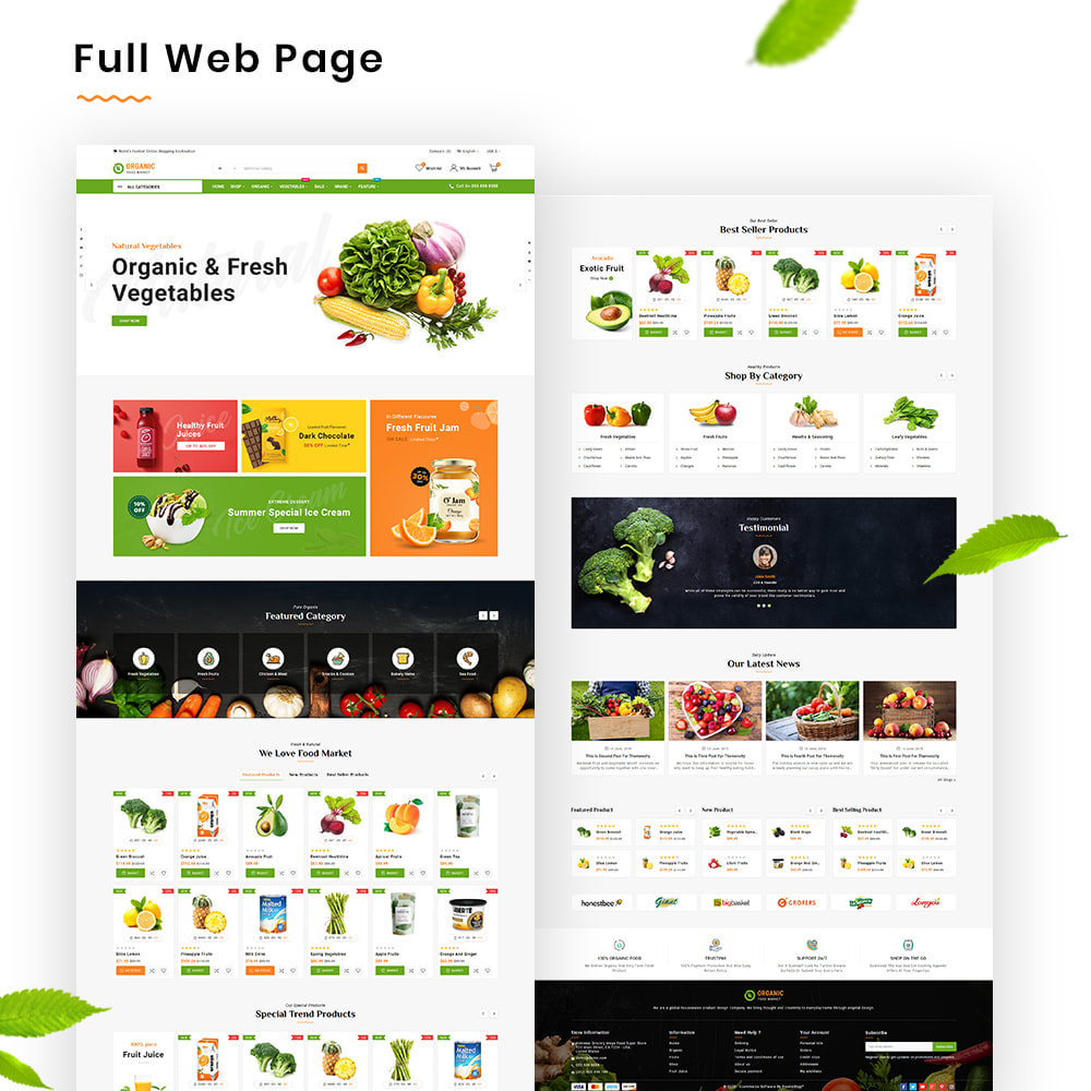 theme - Lebensmittel & Restaurants - Organic Mega–Food and Fresh–Grocery Super Store - 2