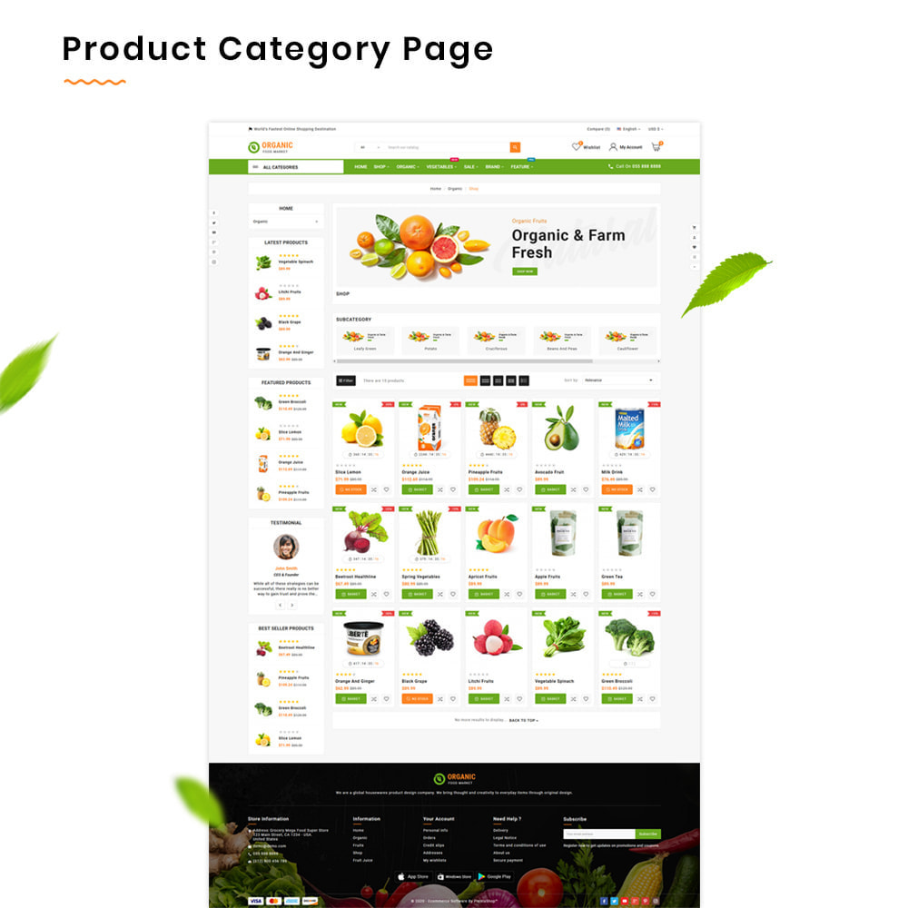 theme - Lebensmittel & Restaurants - Organic Mega–Food and Fresh–Grocery Super Store - 3