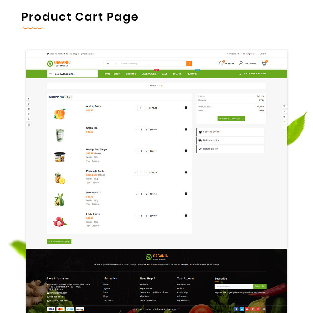 theme - Lebensmittel & Restaurants - Organic Mega–Food and Fresh–Grocery Super Store - 5