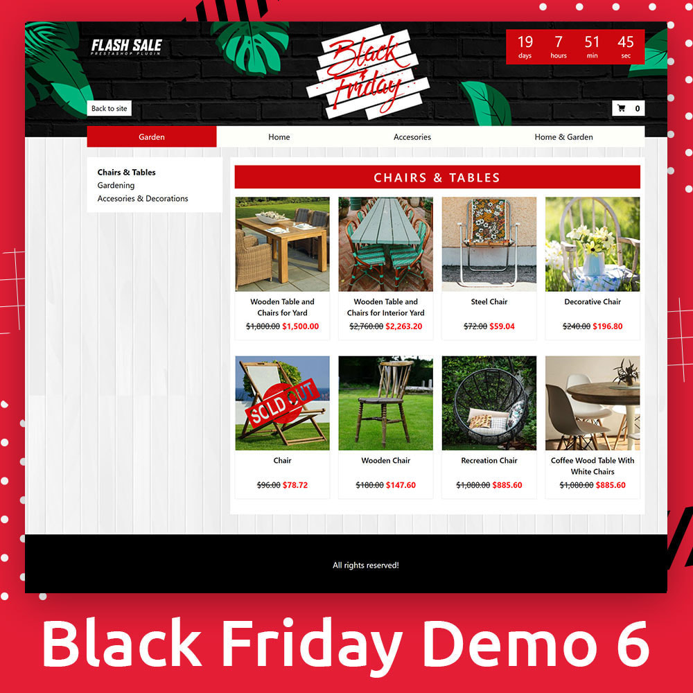 module - Promociones y Regalos - Flash SALES Page Builder PRO - Black Friday - 7