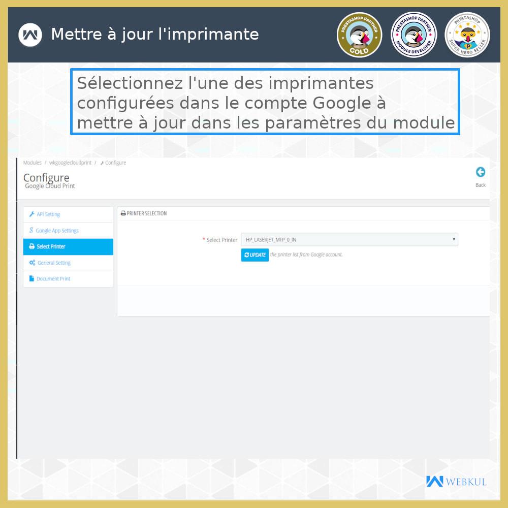 module - Préparation & Expédition - Google Cloud Print - 7